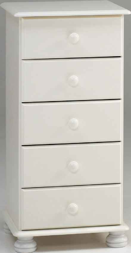 Richmond 5Drawer Tall Boy In White